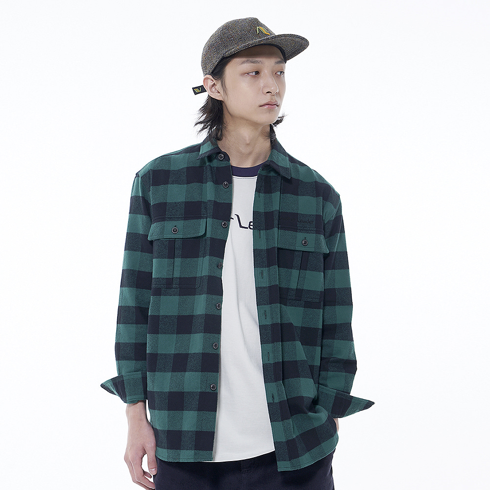 Winter Check Shirt (Green)