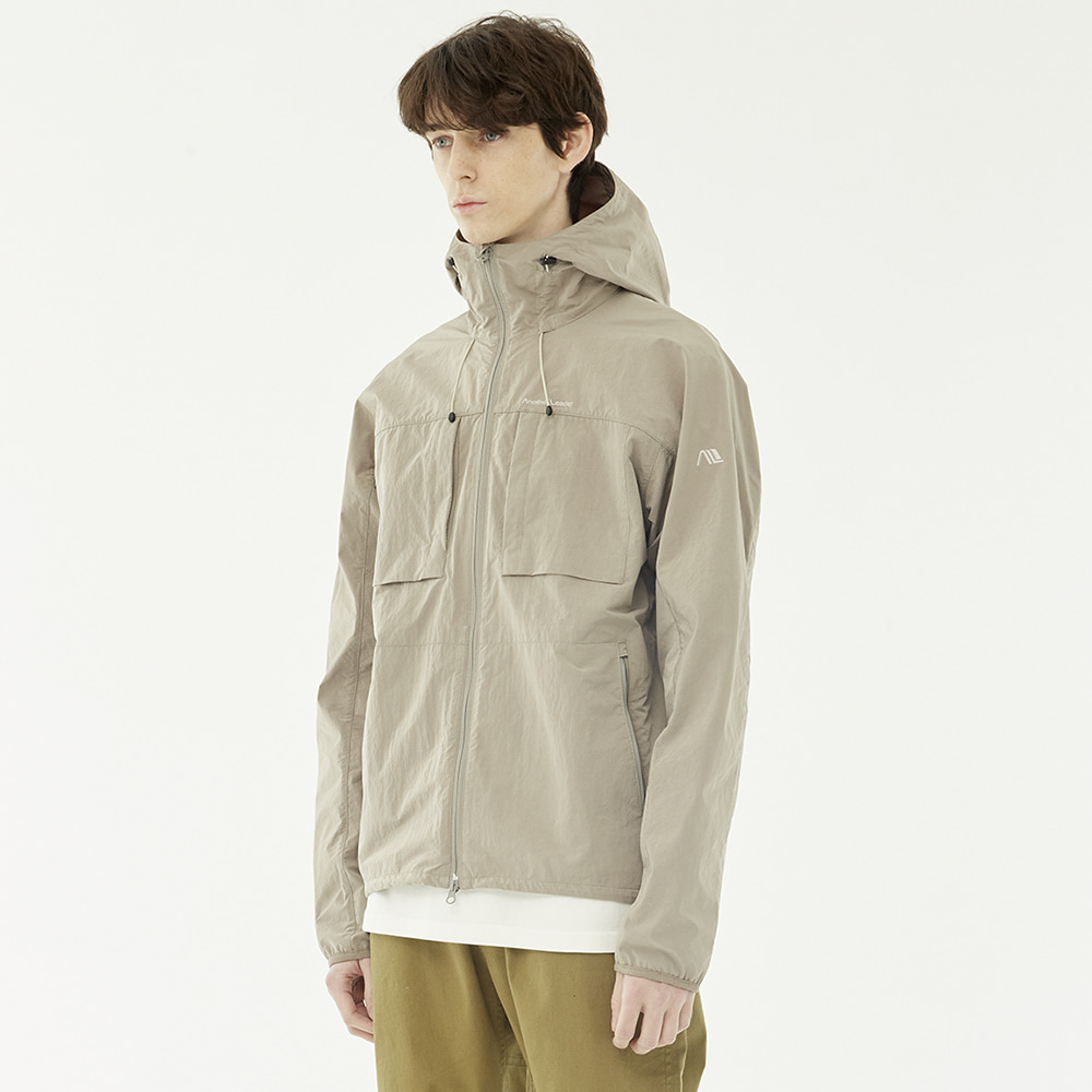 Poket Zip-up Anorak (Beige)