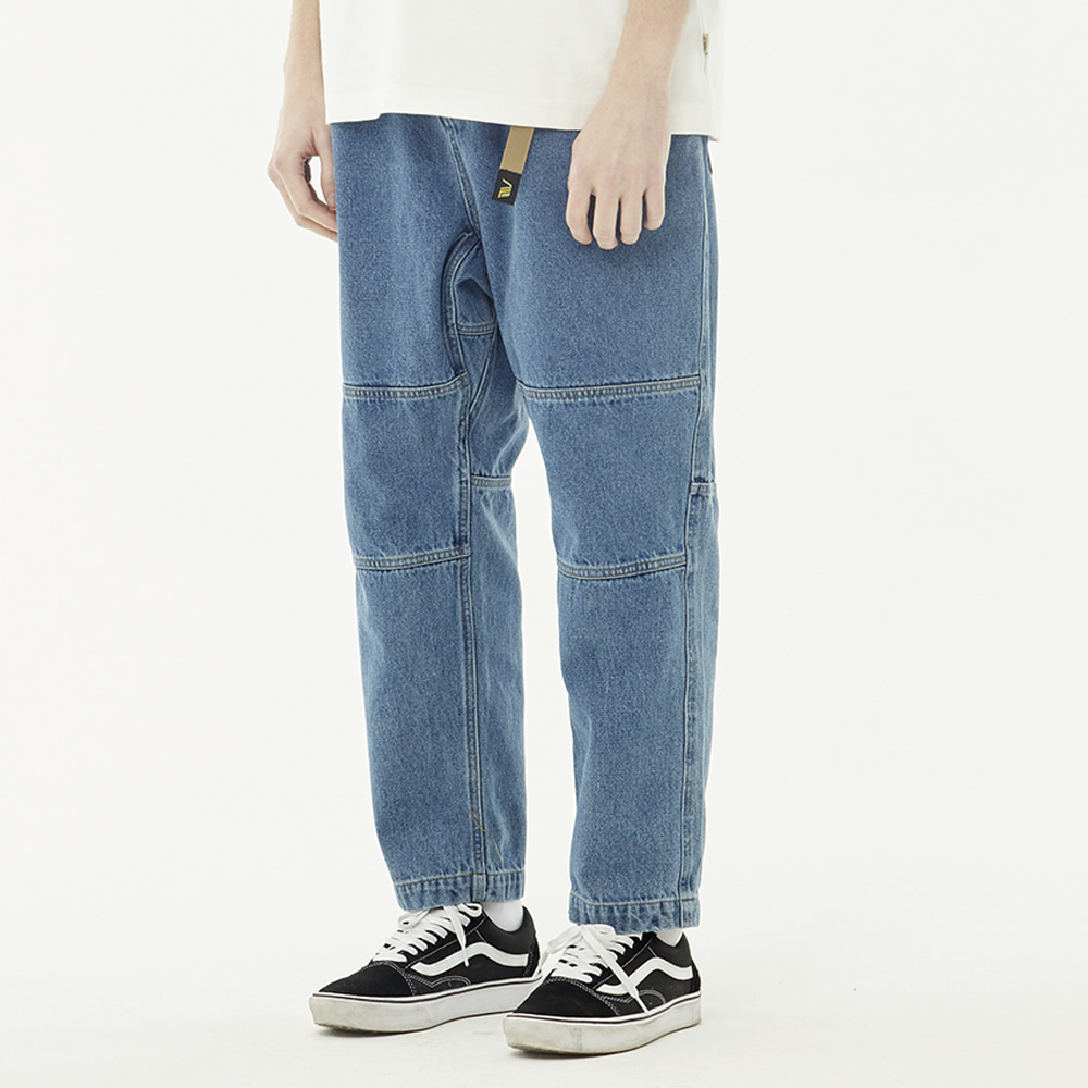 Denim loose pants (Blue)